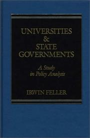 Cover of: Universities and State Governments | Irwin Feller