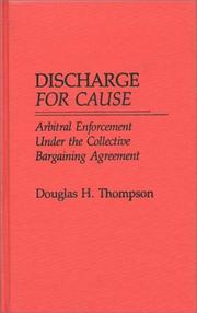 Cover of: Discharge for cause by Douglas H. Thompson
