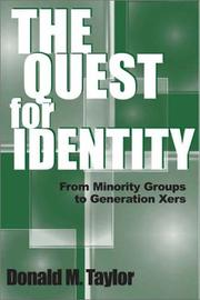 Cover of: The Quest for Identity | Donald M. Taylor