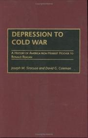 Cover of: Depression to Cold War by Joseph M. Siracusa