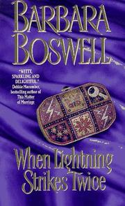 Cover of: When Lightning Strikes Twice | Barbara Boswell