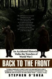 Cover of: Back to the Front | Stephen O'shea