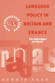 Cover of: Language policy in Britain and France by D. E. Ager