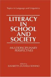 Cover of: Literacy in School and Society | Elisabetta Zuanelli Sonino