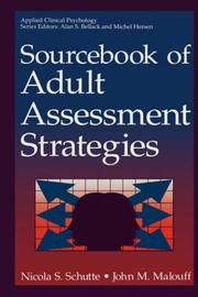 Cover of: Sourcebook of adult assessment strategies by Nicola S. Schutte