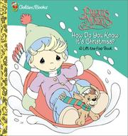 Cover of: How Do You Know It's Christmas? (First Flaps) | Golden Books