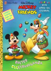Cover of: Mickey and Friends Coloring and Press-On Stickers Book | Golden Books