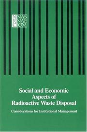 Cover of: Social and Economic Aspects of Radioactive Waste Disposal | National Research Council.