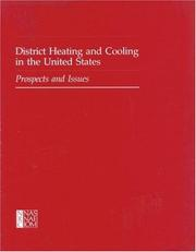 Cover of: District Heating and Cooling in the United States | National Research Council.