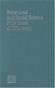 Cover of: Behavioral and Social Science by National Research Council.