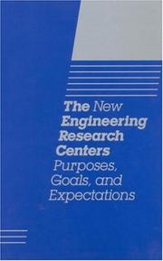 Cover of: The New Engineering Research Centers | National Research Council.