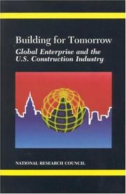 Cover of: Building for Tomorrow | National Research Council.