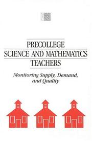 Cover of: Precollege Science and Mathematics Teachers | National Research Council.