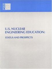 Cover of: U.S. Nuclear Engineering Education | National Research Council.