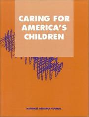 Cover of: Caring for America's Children | National Research Council.