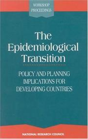 Cover of: The Epidemiological Transition by National Research Council.