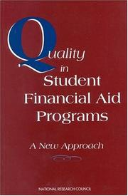 Cover of: Quality in Student Financial Aid Programs | National Research Council.