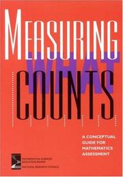 Cover of: Measuring What Counts | National Research Council.