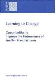 Cover of: Learning to Change by National Research Council.