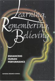 Cover of: Learning, Remembering, Believing | National Research Council.