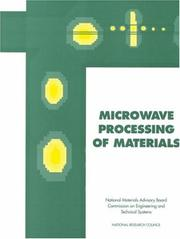 Cover of: Microwave Processing of Materials (Publication Nmab) | National Research Council.