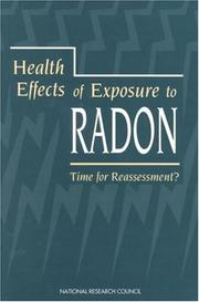 Cover of: Health Effects of Exposure to Radon | National Research Council.
