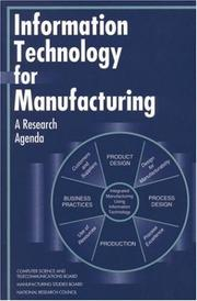 Cover of: Information Technology for Manufacturing by National Research Council.