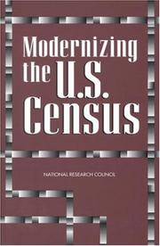 Cover of: Modernizing the U.S. Census | National Research Council.