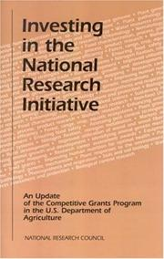 Cover of: Investing in the National Research Initiative | National Research Council.
