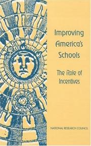 Cover of: Improving America's Schools by National Research Council.