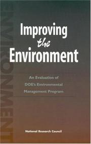 Cover of: Improving the Environment | National Research Council.