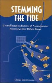 Cover of: Stemming the Tide | National Research Council.