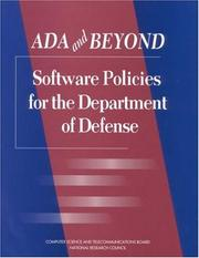 Cover of: Ada and Beyond by National Research Council.