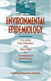 Cover of: Environmental Epidemiology, Volume 2 by National Research Council.