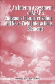 Cover of: An Interim Assessment of the AEAP's Emissions Characterization and Near-Field Interactions Elements (Compass Series) by National Research Council.