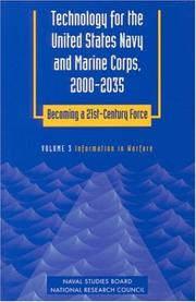 Cover of: Technology for the United States Navy and Marine Corps, 2000-2035 Becoming a 21st-Century Force: Volume 3 | National Research Council.
