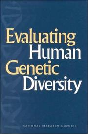Cover of: Evaluating Human Genetic Diversity | National Research Council.