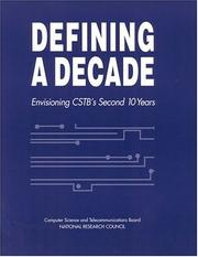 Cover of: Defining a Decade | National Research Council.
