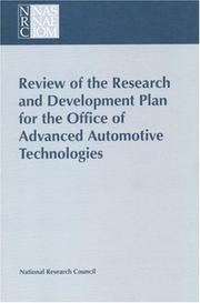 Cover of: Review of the Research and Development Plan for the Office of Advanced Automotive Technologies by National Research Council.