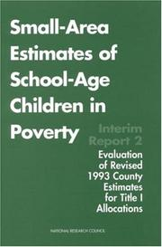 Cover of: Small-Area Estimates of School-Age Children in Poverty by National Research Council.
