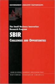 Cover of: The Small Business Innovation Research Program | National Research Council.