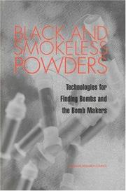 Cover of: Black and Smokeless Powders | National Research Council.