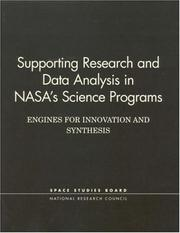 Cover of: Supporting Research and Data Analysis in NASA's Science Programs | National Research Council.