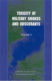 Cover of: Toxicity of Military Smokes and Obscurants, Volume 2 (Plenum Series in Social/Clinical Psychology) by National Research Council.