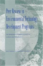 Cover of: Peer Review in Environmental Technology Development Programs (Compass Series) by National Research Council.