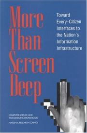 Cover of: More Than Screen Deep | National Research Council.