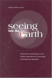 Cover of: Seeing into the Earth | National Research Council.