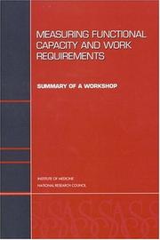 Cover of: Measuring Functional Capacity and Work Requirements | National Research Council.