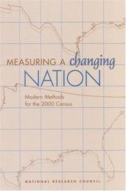 Cover of: Measuring a Changing Nation | National Research Council.