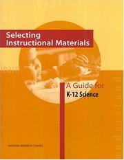 Cover of: Selecting Instructional Materials | National Research Council.